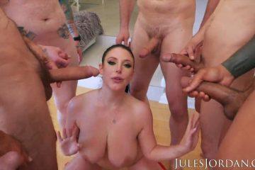 Jules Jordan 13 Guys Fuck Angela White Biggest gangbang